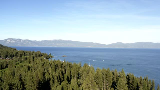 Aerial Image of Lake Tahoe in California