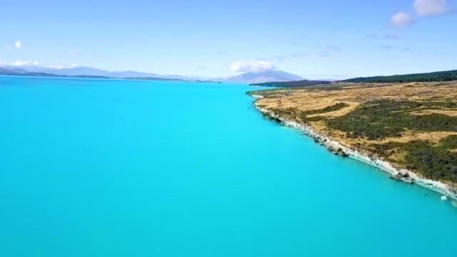 Aerial Lake Pukaki,  NewZealand video