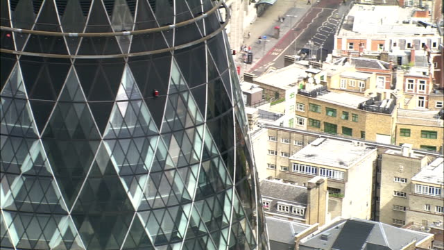Aerial London - CU flypast of St Mary Axe video
