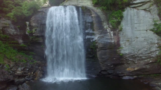 Aerial Looking Glass Falls video