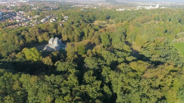 Aerial Ludwigsburg Schloss Favorite- pan left video