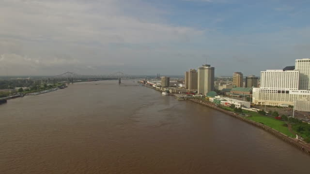 Aerial Mississippi New Orleans video