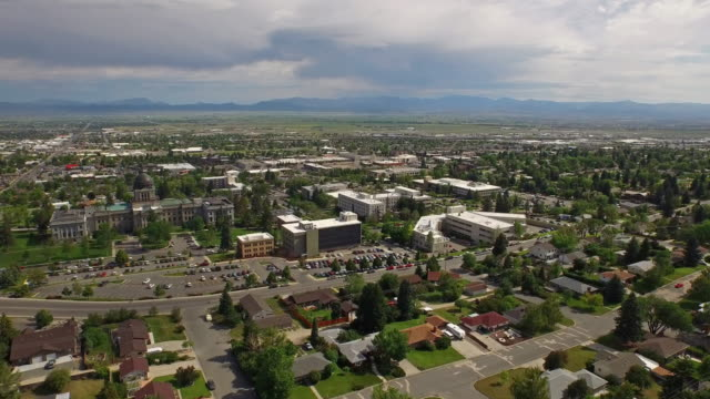 Aerial Montana Countryside Small Town video