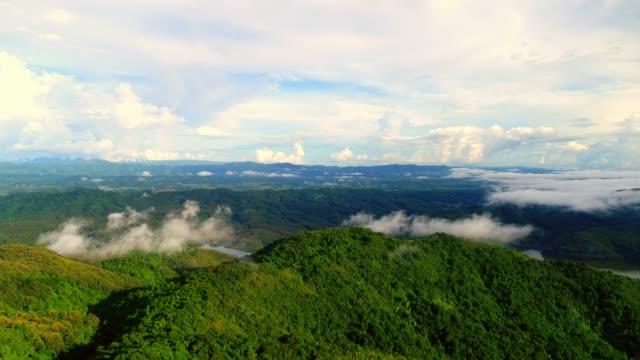 Aerial mountain video