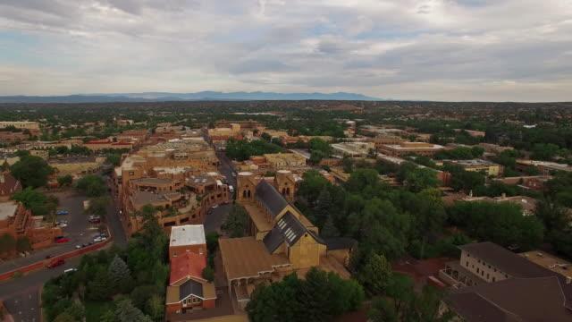 Aerial New Mexico Santa Fe