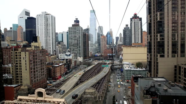 HD Aerial: New York City midtown Skyline video