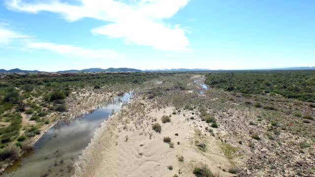 Aerial Northern Arizona Desert Wash video