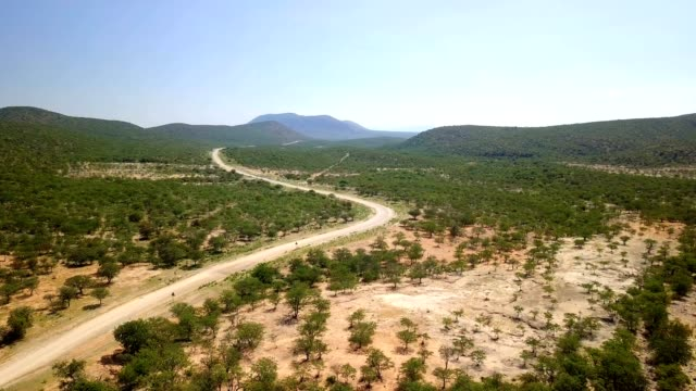 Aerial northern Namibia landscape video