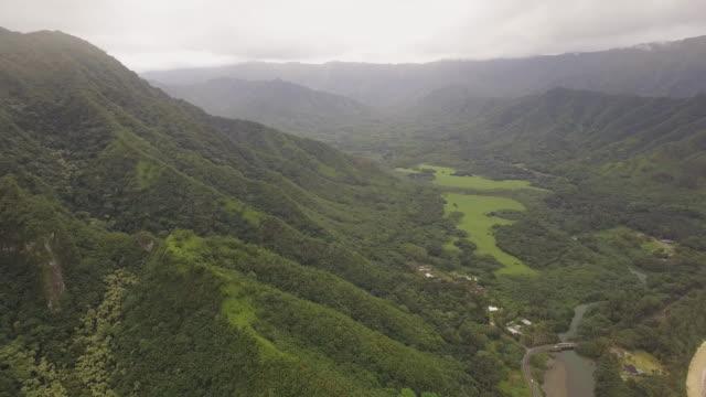 Aerial Oahu Kahana Bay Beach Park video