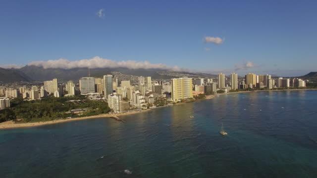 Aerial Oahu Waikiki Honolulu, Hawaii video