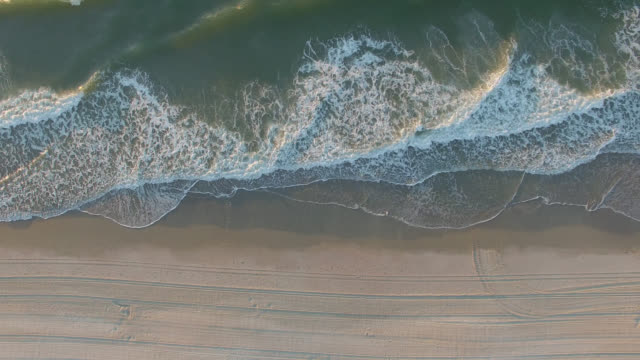 Aerial Ocean Sunrise Aerial of sunrise on the east coast at Myrtle Beach south carolina stock videos & royalty-free footage