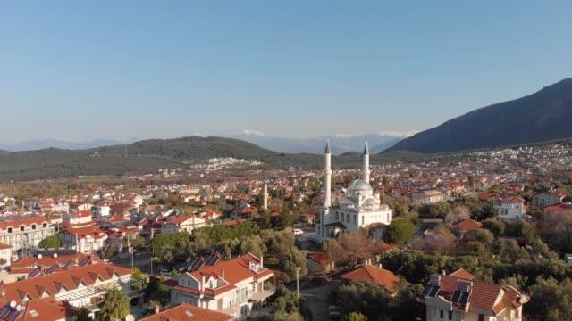 antenn av en turkisk stad med moskén - moské bildbanksvideor och videomaterial från bakom kulisserna