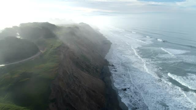 aerial-uttaget på stranden - kustlinje bildbanksvideor och videomaterial från bakom kulisserna
