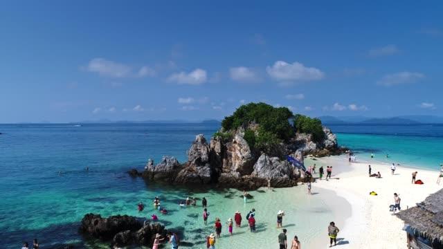 Luftfahrt von der schönen Insel in Thailand – Video