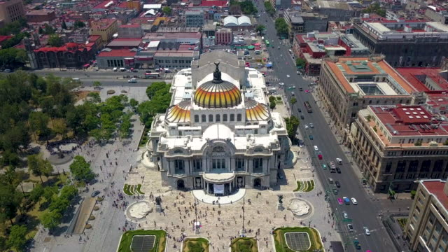 aerial of bellas artes palace in mexico city aerial of bellas artes palace in mexico city palace stock videos & royalty-free footage