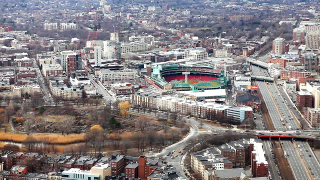Aerial of Boston, Massachusetts video