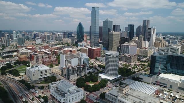 달라스, 텍사스의 공중 - 스카이라인 스톡 비디오 및 b-롤 화면