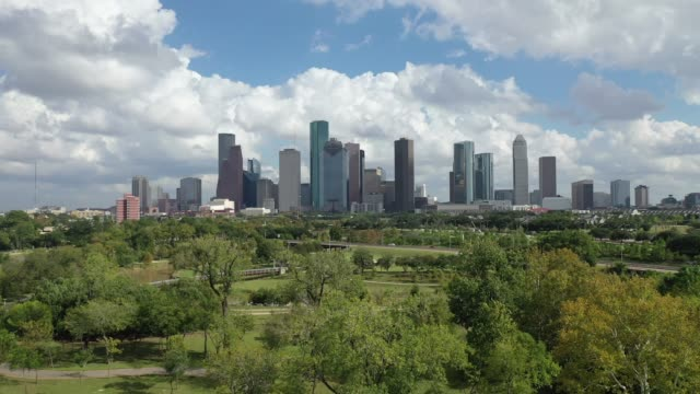 Aerial of Downtown Houston, Texas video