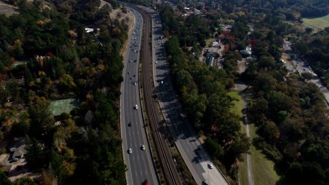 Aerial of Freeway video
