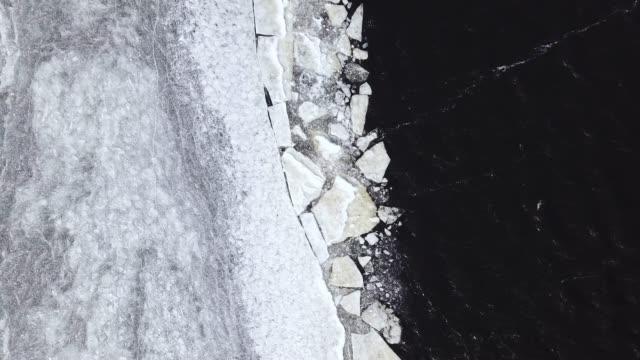 antenn av fryst lake - pine forest sweden bildbanksvideor och videomaterial från bakom kulisserna