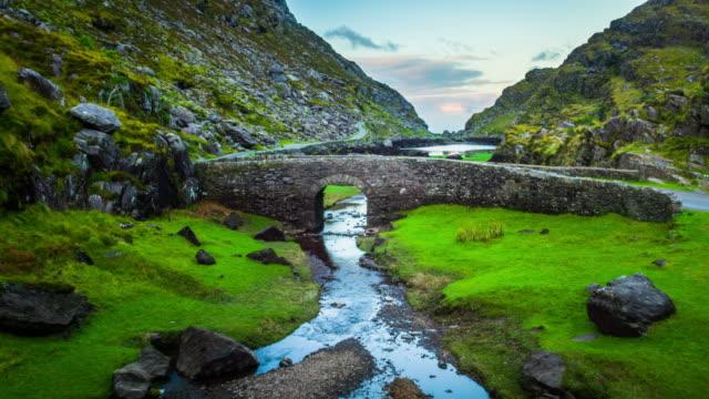 Aerial of Gap of Dunloe - Ireland video