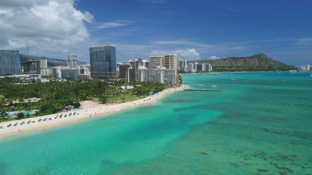 ハワイのビーチや自然景観の空中 - ハワイ点の映像素材/bロール