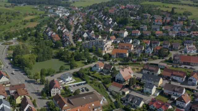 Aerial of Heimsheim, Germany video
