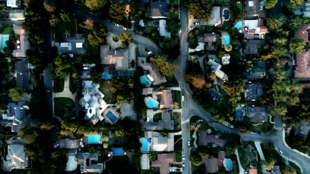 Aerial of Houses video