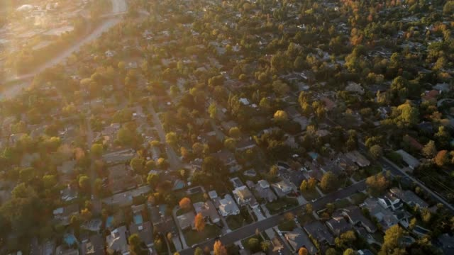 aerial of houses - vicino video stock e b–roll