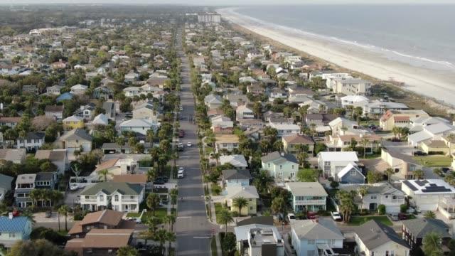 Antenne von Jacksonville Beach, Florida – Video