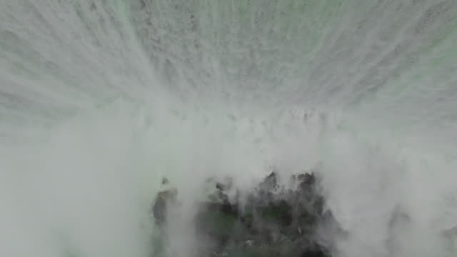 Aerial of Niagara Falls At Sunrise video