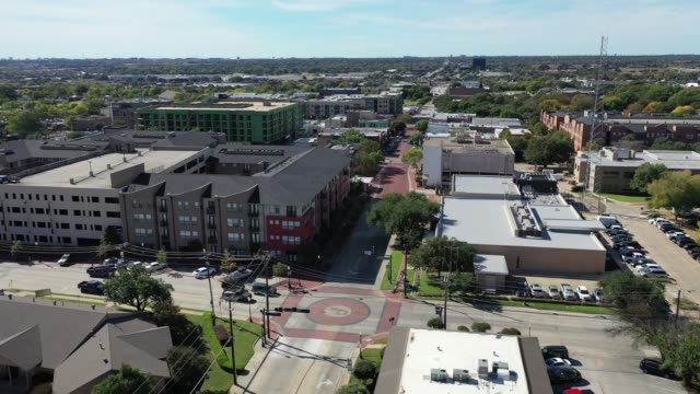 Aerial of Plano, Texas Aerial drone footage of Plano's downtown area and cityscape texas stock videos & royalty-free footage