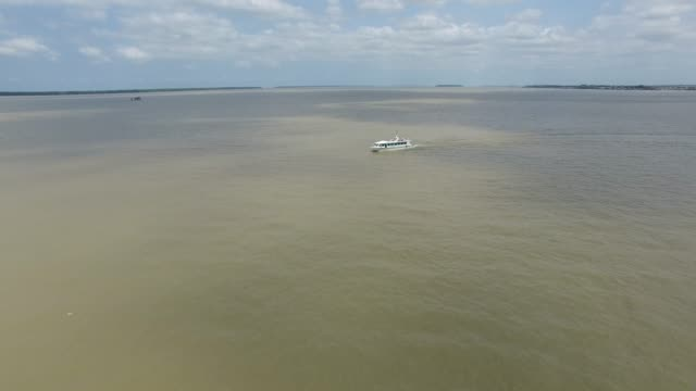 Aerial of Rio Negro in Belem do Para, Brazil video