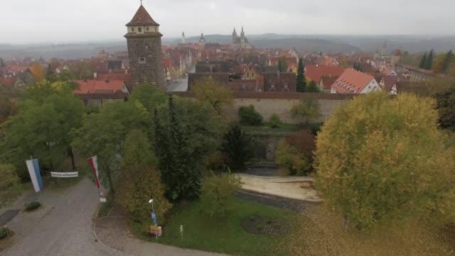 Aerial of Rothenburg ob der Tauber video