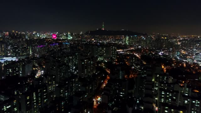 Aerial of Seoul, South Korea Aerial drone footage of the architecture and sights in Seoul, South Korea seoul stock videos & royalty-free footage