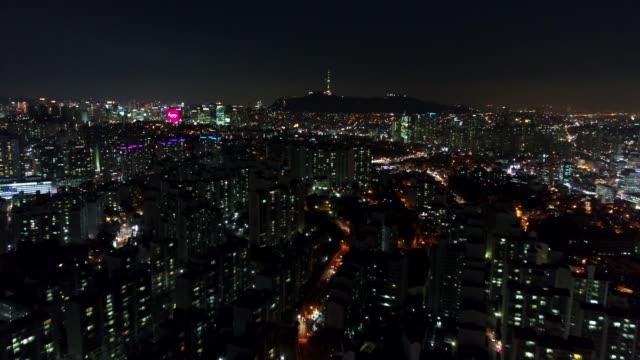 vídeos de stock e filmes b-roll de aerial of seoul, south korea - seul