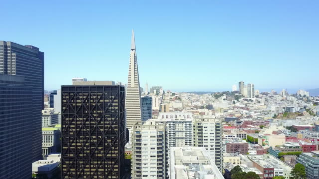 aerial of SF Financial District video