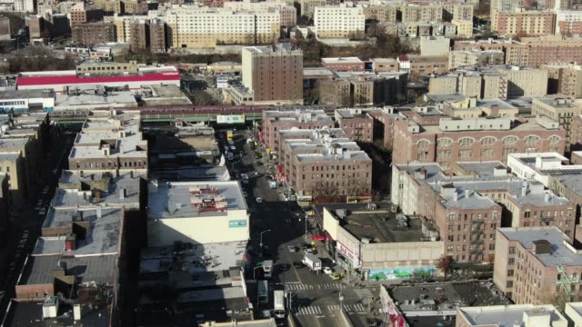 Aerial Of The West Bronx New York City Stock Video