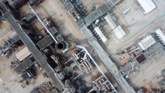 空中石油プラント、パイプライン - 気体点の映像素材/bロール
