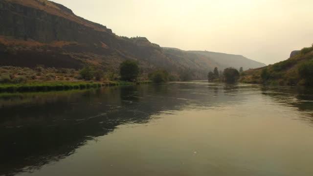 Aerial Oregon Deschutes River video