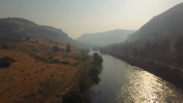 Aerial Oregon Deschutes River video