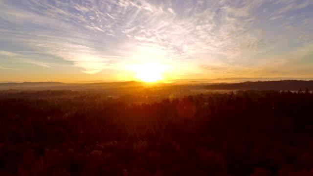 vídeos de stock e filmes b-roll de antena oregon portland - linha do horizonte sobre terra