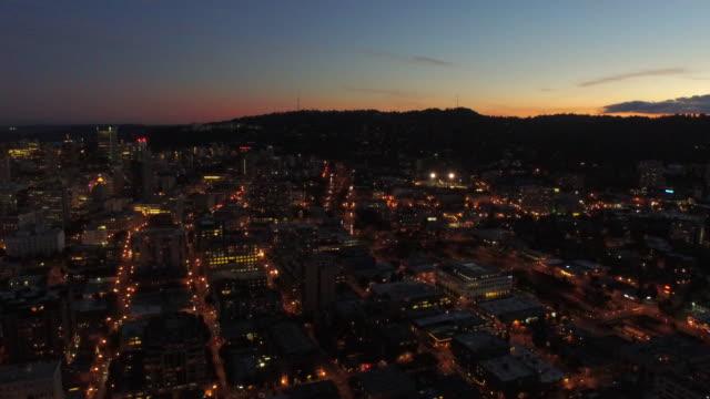 空から見たオレゴン州ポートランド - ヘリコプター点の映像素材/bロール