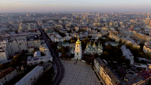 Aerial Orthodox Cathedral in Kyiv. Sophia Cathedral Kyiv. Ukraine video