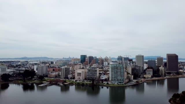 Aerial over Lake Merritt Oakland