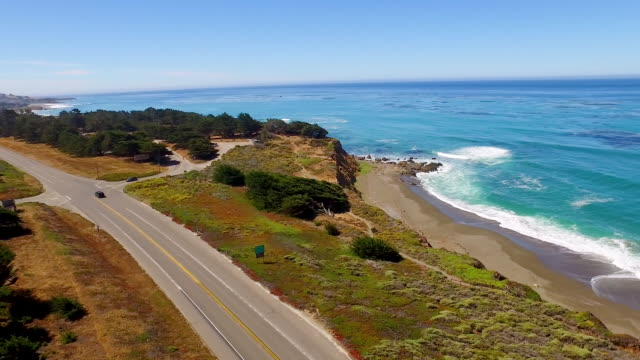 Aerial - Pacific Coast Highway, California video