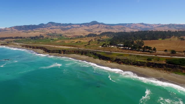 Aerial - Pacific Coast Highway, California video