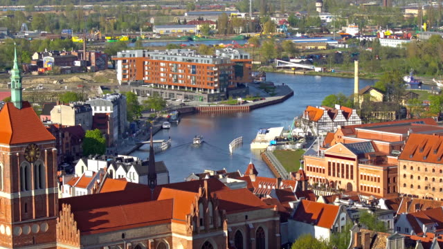 GDANSK, POLAND: Aerial panoramic view of Gdansk. video