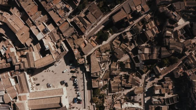 Aerial panoramic view of the ancient town of Matera (Sassi di Matera)