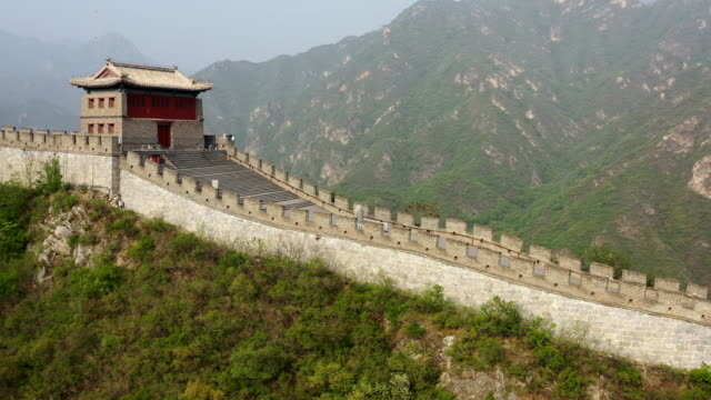 Aerial photography of Great Wall in Beijing Aerial photography of Great Wall in Beijing china east asia stock videos & royalty-free footage